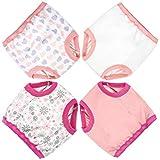 Flyish Baby Trainingshose Kinder Trainingswäsche Kleinkind Töpfchen Trainingshose Baby Unterwäsche Toilettentraining, 4 Jahre, Mädchen-4 Stück