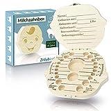 Zrilubkrelz Zahnbox Zahndose für Kinder aus Holz   Deutsche Sprache   2 Versionen für Junge &...