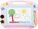 Magnetische Maltafel Zaubertafeln für Kinder, Magnettafel Zaubermaltafel Zeichentafel Reisegröße-Bunt Löschbar Zeichenbrett Lernspielzeug für Kinder Geschenk 3 4 5 Jahre alt (Rosa)