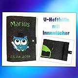 Untersuchungshefthülle ♥ U- Hefthülle ♥ Hülle für das Untersuchungsheft des Kindes- Grösse passend für das Deutsche und Schweizer U-Heft. Mit Innenfach für den Impfpass und einem Kartenfach.
