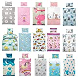 Kinder Bettwäsche 100 x 135 cm + Kissen 40 x 60 cm 100% Baumwolle Kinderbettwäsche, Babybettwäsche, Prinzessin