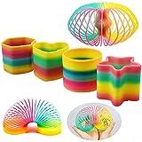 INTVN Regenbogenspirale Kunststoffspirale Regenbogen Springs Magic Rainbow Party Tasche Füllstoffe Springspielzeuge für Kinder 4 Stück