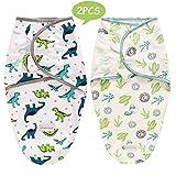SaponinTree Pucksack Baby Wickeldecke für Neugeborene von 0-6 Monate, 2er Pack Universal Verstellbare Schlafsack Decke für Säuglinge Babys Neugeborene (Blau)