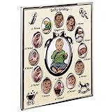 Hama Portrait Bilderrahmen Mein erstes Jahr Baby Galerie für 13 Fotos (Fotogröße 9 x 13 cm,...