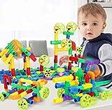 Bausteine Wasserrohr Steckspielzeug Kinderpuzzle Montage Spielzeug 100 Stück Steckbausteine Junge Kreatives Konstruktionsspielzeug Mädchen Kinder Motorikspielzeug für Geburtstag Weihnachten