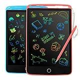 KIDWILL 2 Pack LCD Schreibtablett Bildschirm Zeichenbrett 8,5 Zoll Doodle Scribbler Pad Lernen Lernspielzeug-Geschenk für Kinder 3-6 Jahre altes Mädchen (2 Packs)