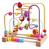 Lewo Motorikschleife Baby Spielzeug Perlen Labyrinth Motorikwürfel Lernspielzeug Abakus Kinderspielzeug ab 1 2 3 Jahr Junge Mädchen Kinder