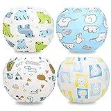 Flyish Packungen mit 4 Kinder Töpfchen Hose Baby absorbierende Training Unterwäsche Kind WC...