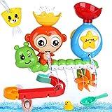 BBLIKE Badespielzeug für Babys, Kinder Wasser Dusche Badewannenspielzeug mit BAU-Puzzle...
