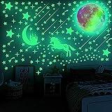 Leuchtsterne Selbstklebend Kinderzimmer Jungen Mädchen, Leuchtende Sterne Leuchten im Dunkeln...