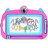Peradix Zaubertafel Maltafel Magnetische für Kinder, Zeichentafeln Magnetmaltafel, Bunte Zeichenbrett der löschbaren Kinder (Rosa-30x21cm)