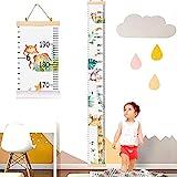YZNlife Messlatte Höhe Diagramm, Tier Höhe Wachstum Diagramm Kindermesslate für Kinder, Aufrollbare Wachstum Wall Chart, Höhenmesser für Kinderzimmer Kindergarten, Wandabziehbild Wachstumsmesser …