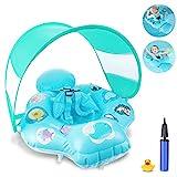 Magicfun Baby Schwimmring, aufblasbarer Schwimmhilfe mit Sonnendach und sicherem Sitz, Schwimmreif Kinder Baby Swim Float, ab 6 Monate bis 18 Monate