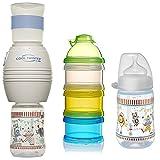 NIP Flaschenkühler Cool Twister Set // 1 x NIP Flasche 260ml mit Sauger Gr. M // 1 x Reer...