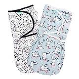 Lekebaby Baby Pucksack Neugeboren - 2er Pack Universal Verstellbare Schlafsack Decke für Säuglinge...