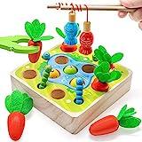 Goorder Kinder Holzspielzeug ab 1 2 3 4 Jahre, Montessori Spielzeug, Sortierspiel und Karottenernte,...