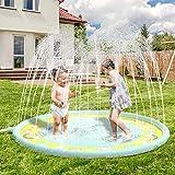 Anpro 170CM Splash Pad, Sprinkler Wasser-Spielmatte Splash Play Matte, Sommer Garten Wasserspielzeug...