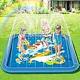 Peradix Splash Pad,Sprinkler Play Matte,170cm Sommer Garten Wasserspielzeug Kinder Baby Pool Pad...