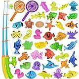 Nunki Toy Angeln Spielzeug, Badespielzeug, 39 Stücke Magnetisches Angeln Spielzeug, Originales...