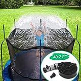 CT Trampolin Sprinkler Trampolin Spray Wasserpark Spaß Sommer Outdoor Wasserspiel Trampolin Zubehör, zum Anbringen am Trampolin Sicherheitsnetz Gehäuse (15m)