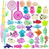 MOOKLIN ROAM Angeln Spielzeug, 39 Stück Baby Badespielzeug, Wasserspiel Magnetisches...