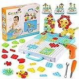 Mosaik Steckspiel, Lernspielzeug Steckmosaik, Mosaik Steckspiel für Kinder ab 3 Jahre, 3D Puzzle Bausteine Spielzeug,Pädagogische Bausteine Sets, Geburtstag Party Geschenk Jungen Mädchen(276pcs)
