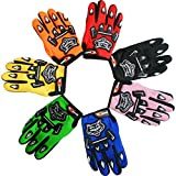 Leopard Motocross Motorradhandschuhe Kinder Racing Schutz Motorrad Roller Handschuhe, Blau 8cm(Kids)