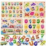 Holzpuzzle, 4 Stück Puzzle Hölzernes Spielzeug,Holz puzzle,Holzpuzzle für Kinder,Holzpuzzle ab...