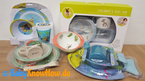 Baby Kinder Geschirr Set Test