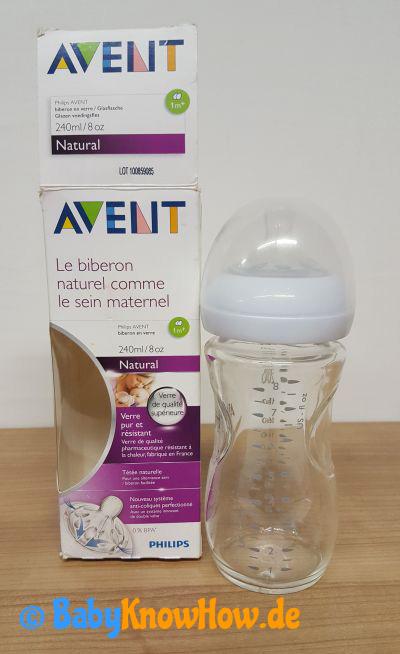Babyflasche aus Glas Test