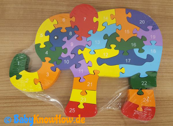 Kinder Holzpuzzle Test