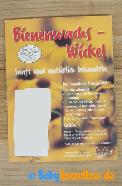 Bienenwachs Wickel Test